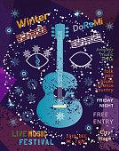 Template Design Poster: Acoustic Music Festival