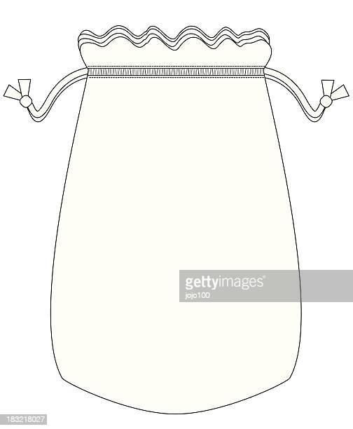 template drawstring bag - drawstring bag stock illustrations