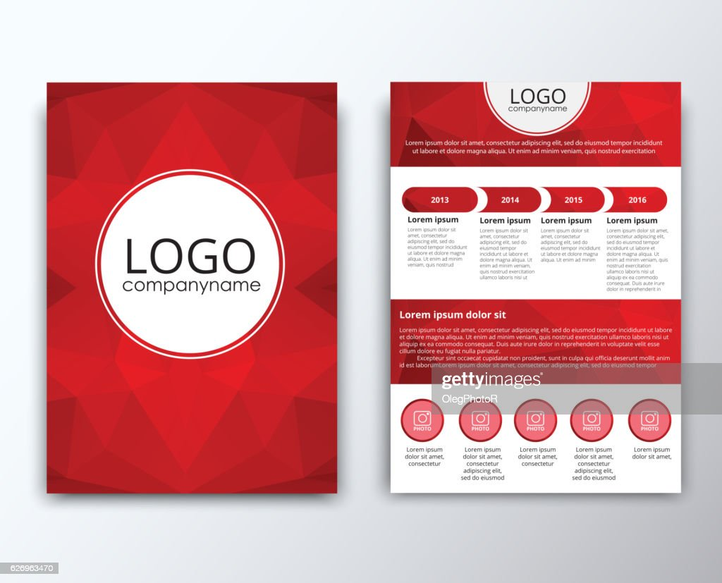 template flyer with polygonal background ベクトルアート getty images