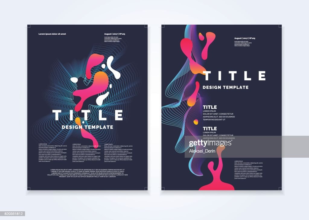 Template for a magazine about music, modern poster