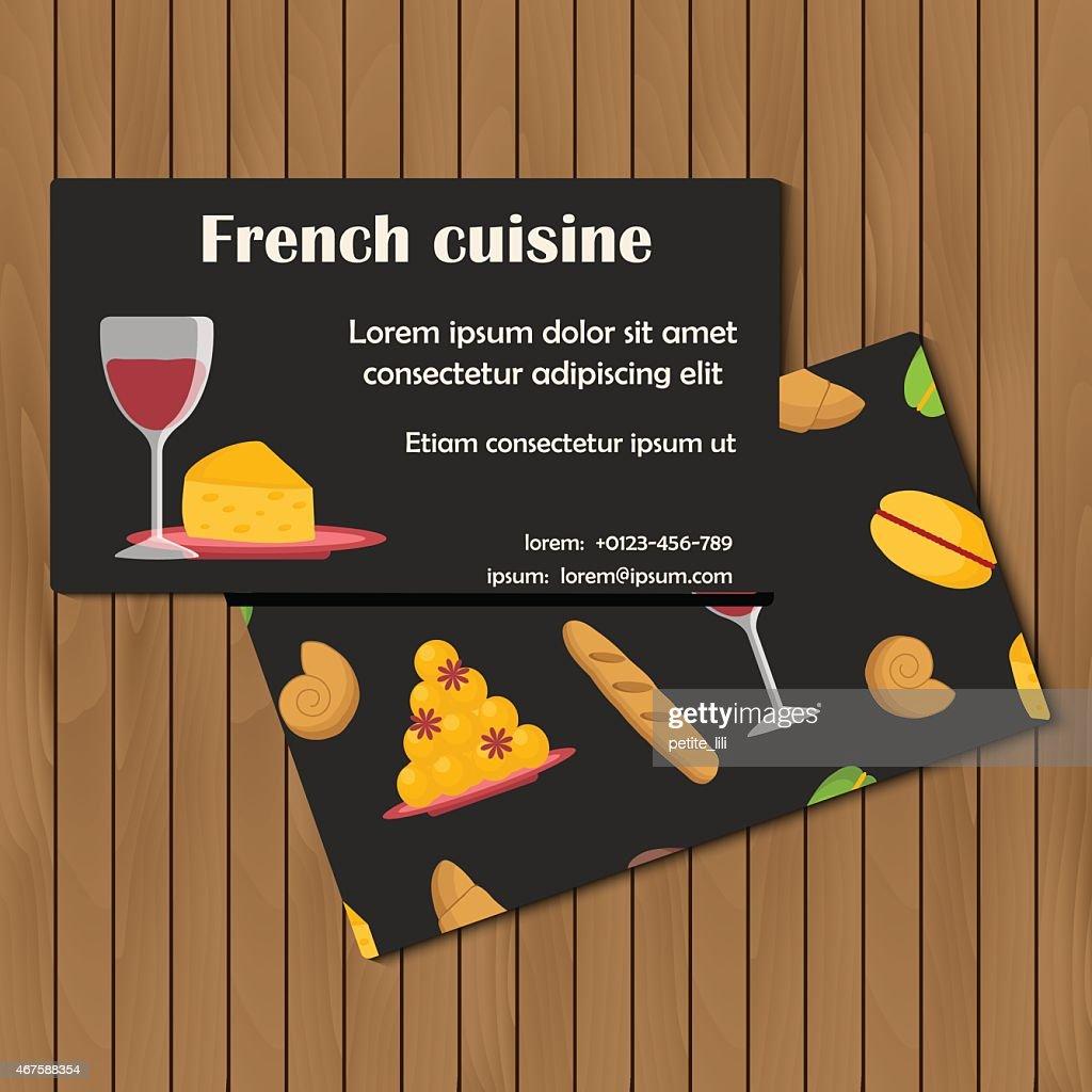 Französische küche comic  Vorlage Für Karte Oder Broschüre Mit Comicfranzösische Küche ...