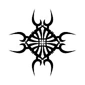 TATTOO TRIBAL DESIGNS. Template for design of machine embroidery.
