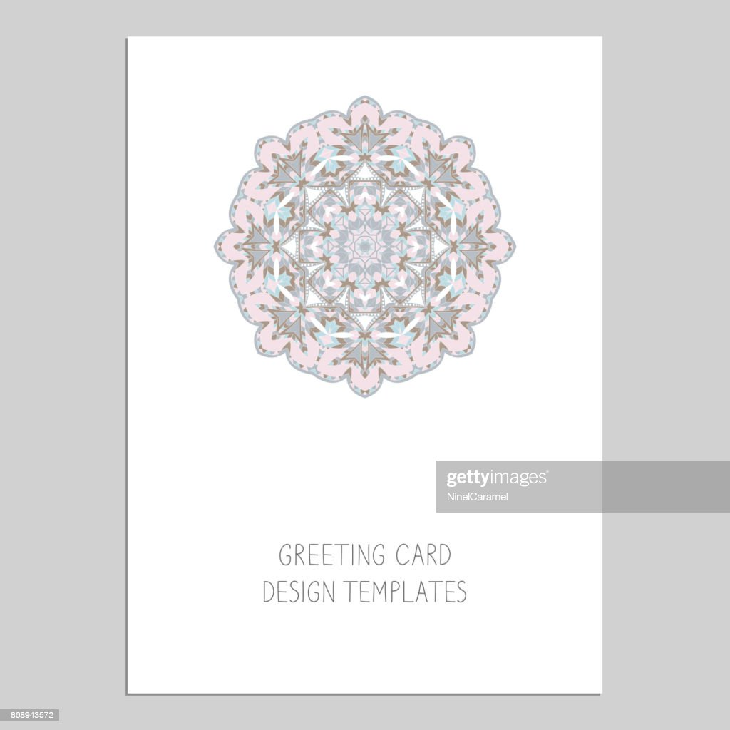 Template For Greeting And Business Cards Brochures Covers Oriental