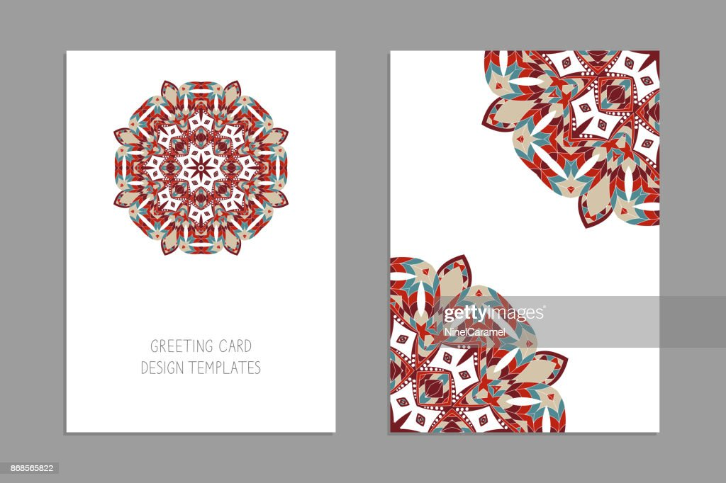 Template For Greeting And Business Cards Brochures Covers With