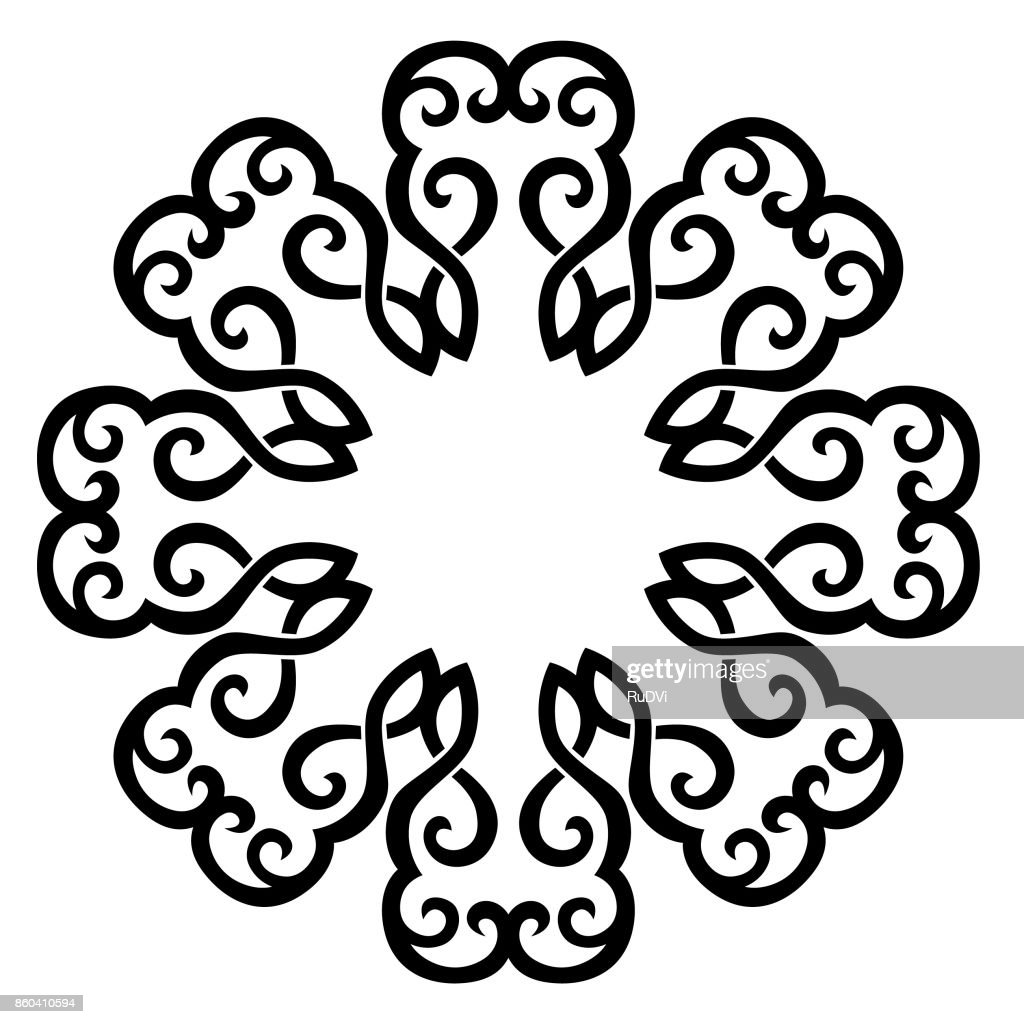 TATTOO TRIBAL DESIGNS. Template for machine embroidery.