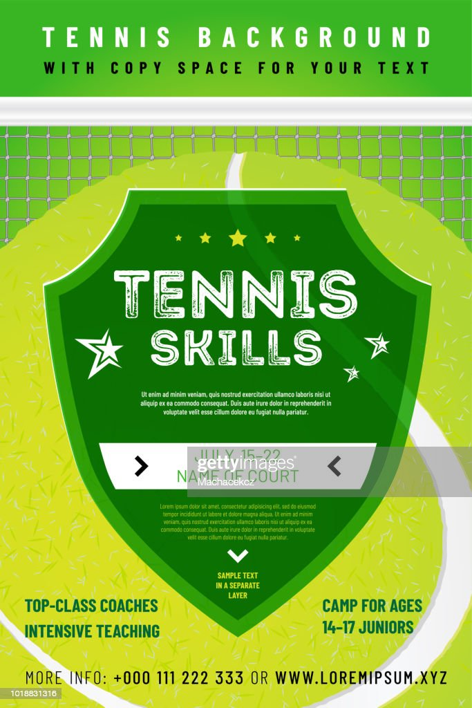 Template for your tennis design with sample text