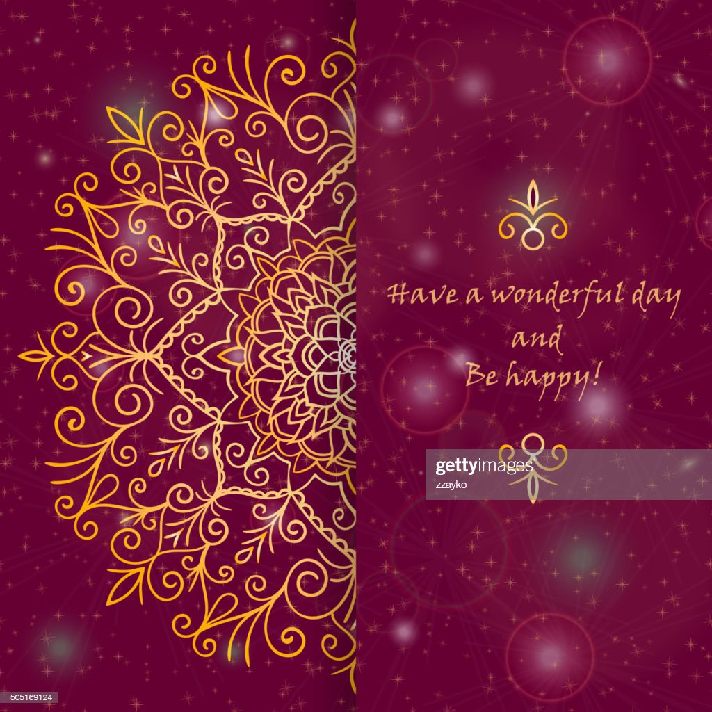 Template greeting card design in oriental style