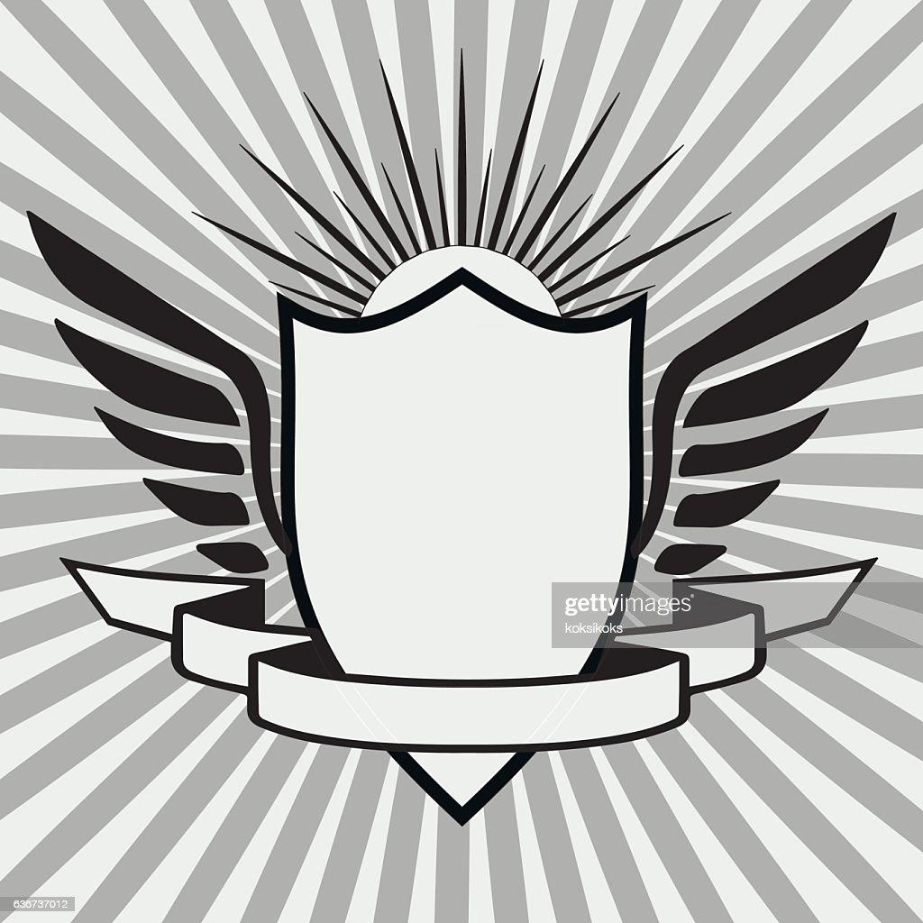template heraldic logo