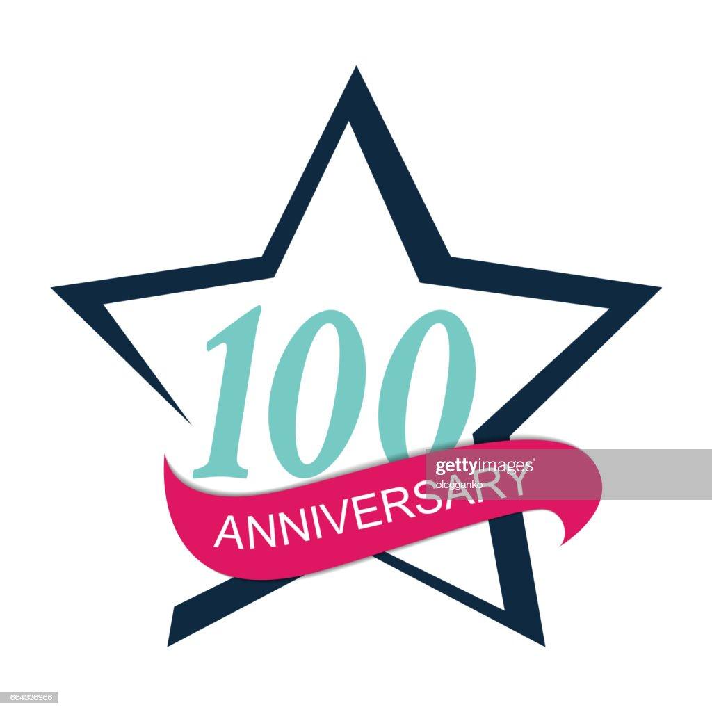 Template Logo 100 Anniversary Vector Illustration