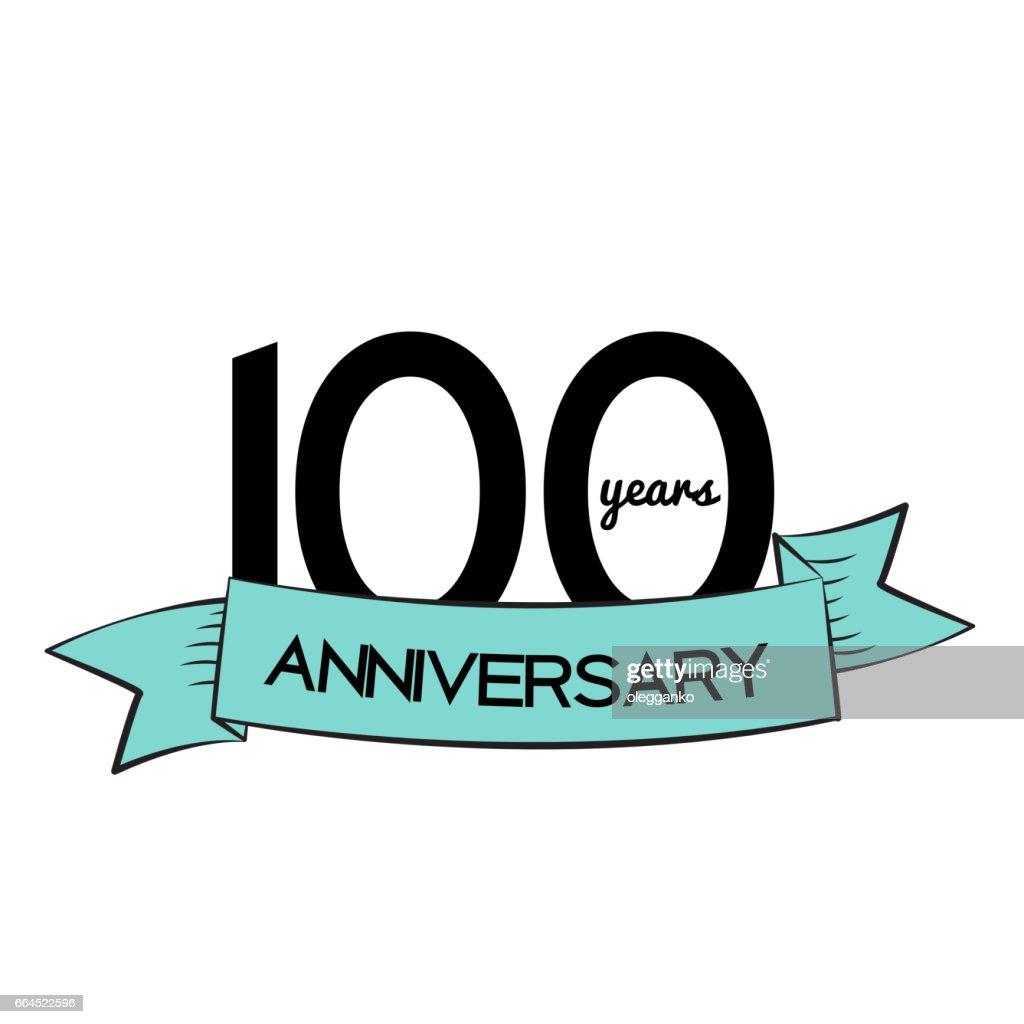 Template Logo 100 Years Anniversary Vector Illustration