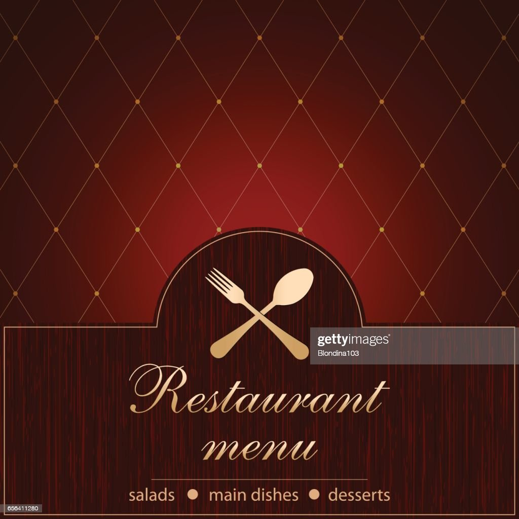 Template of a Restaurant Menu