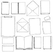 template of blanks and books