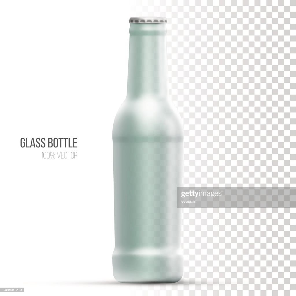 Template Of Glass Bottles For Liquid Vector Art