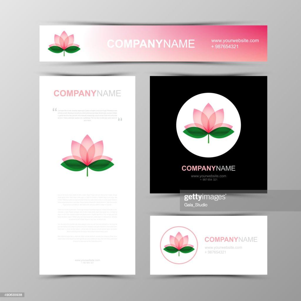Template of identity for Yoga studio and Beauty Salon.