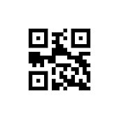 Template of QR code for smartphone scanning