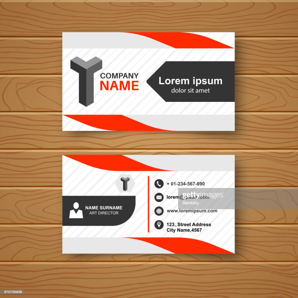 Template of the blank business card