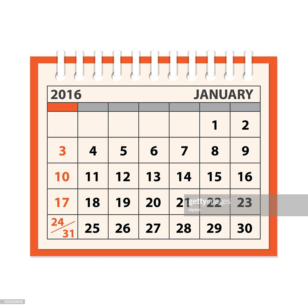 template of the calendar