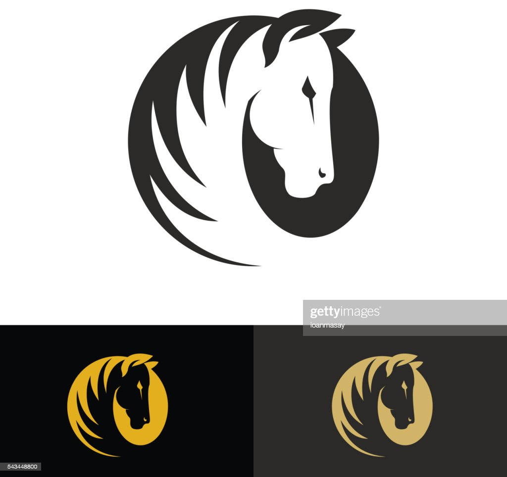 Template of the logo with horse.