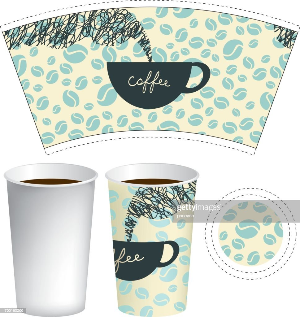 Beautiful Coffee Paper Cup Template