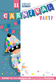 Template poster for Carnival Party.