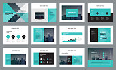 template presentation design and page layout design for brochure ,book , magazine,annual report and company profile , with infographic elements  design