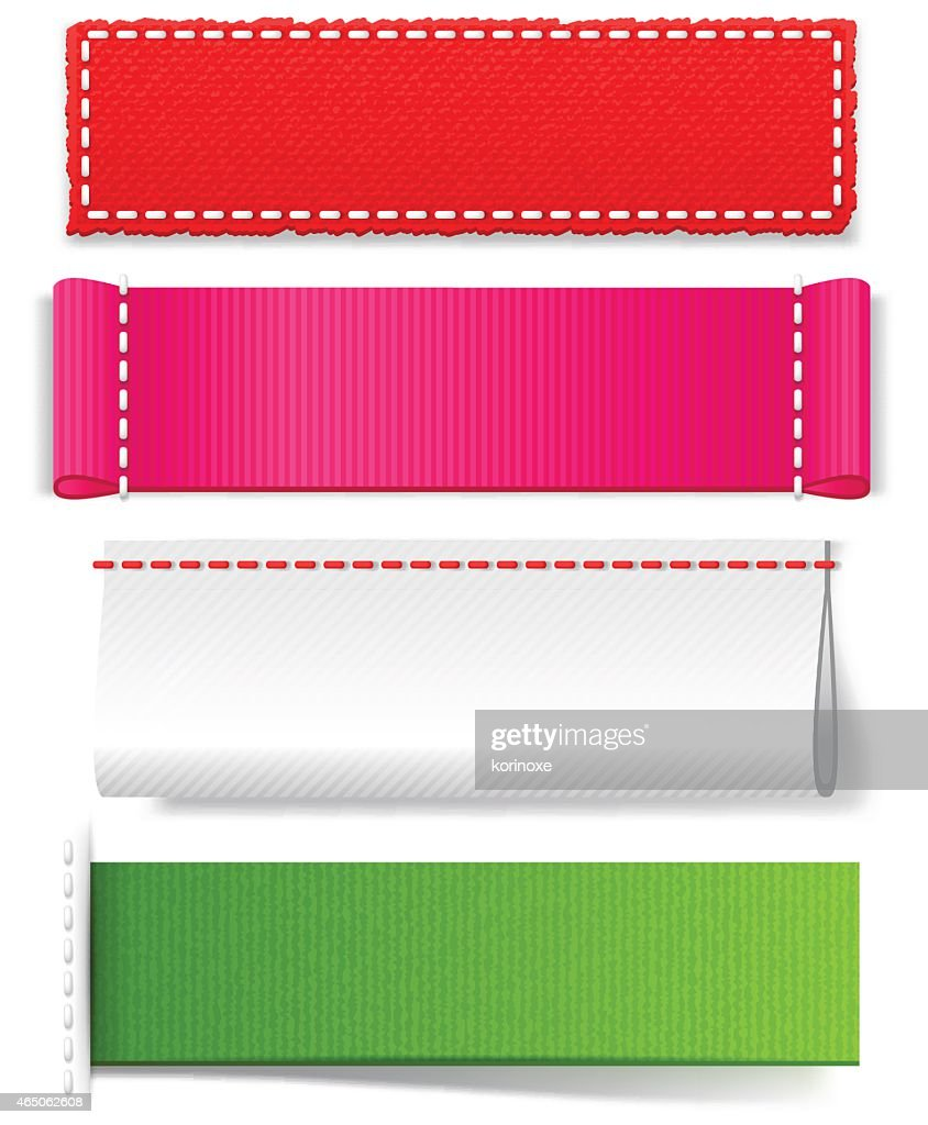 Template realistic fabric labels