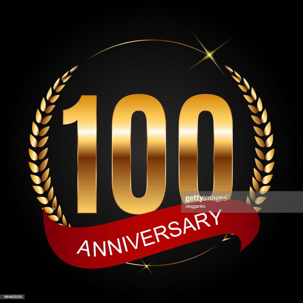 Template symbol 100 Years Anniversary Vector Illustration