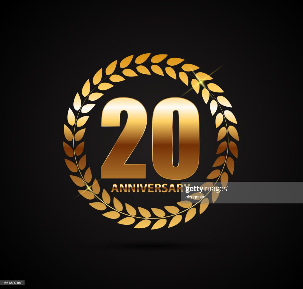 Template Symbol 20 Years Anniversary Vector Illustration Vector Art