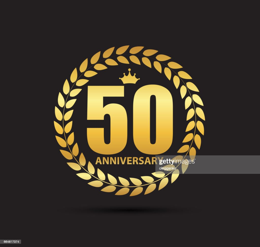 Template symbol 50 Years Anniversary Vector Illustration