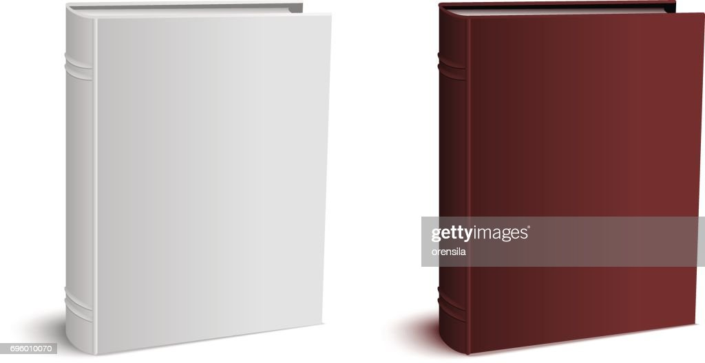 Template three-dimensional hardcover closed book