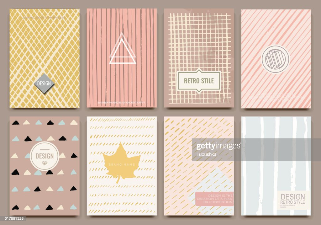Template vector cards