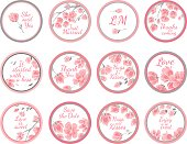 Template vector greeting labels - wedding gift for guest