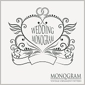 Template wedding monograms.