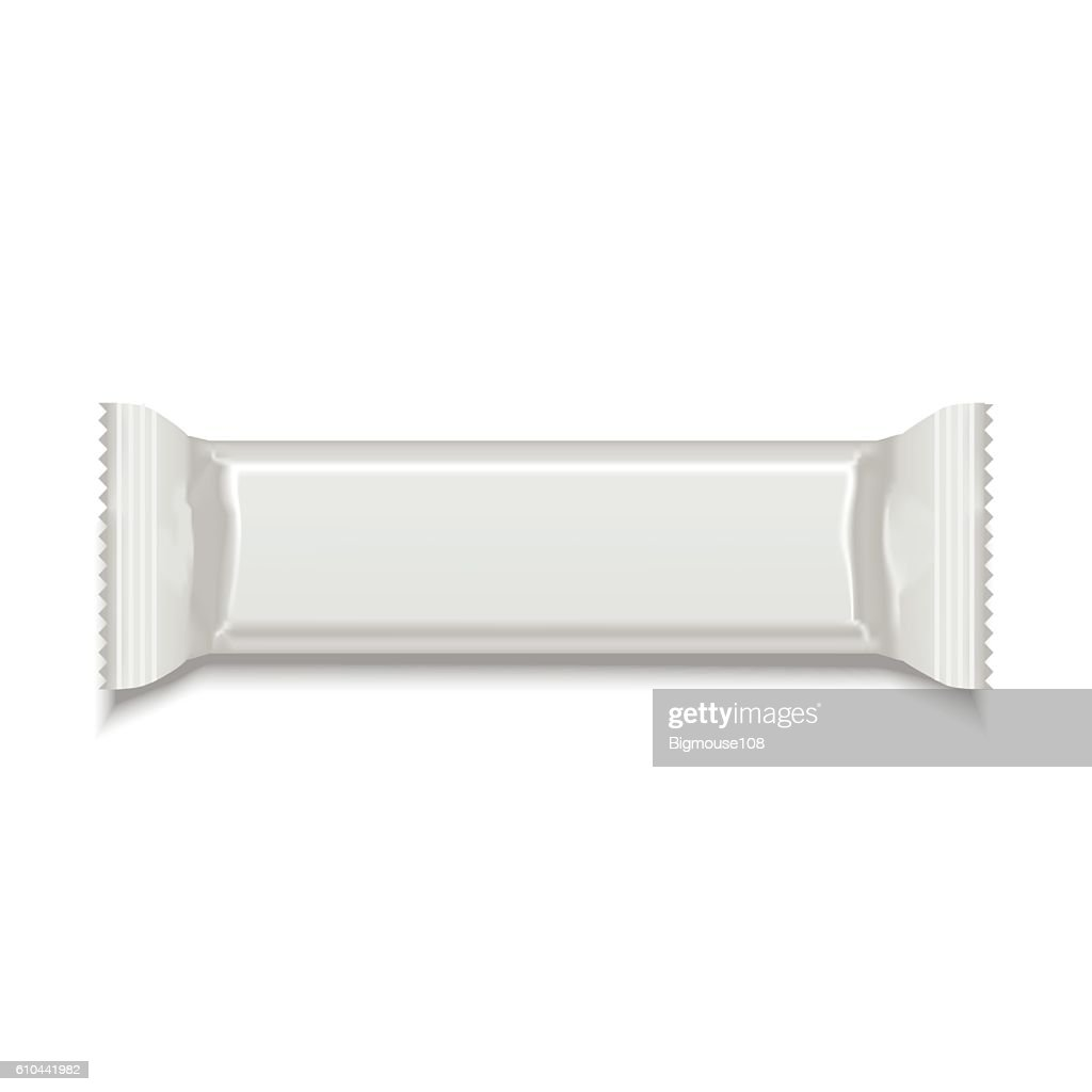 Template White Blank Sweet Stick. Vector
