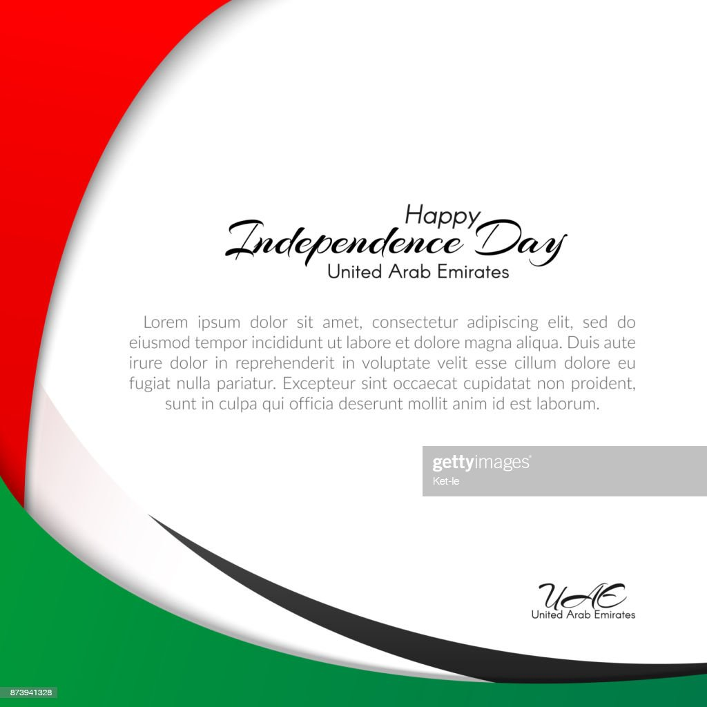 Template With Colors Of The National Flag Of United Arab Emirates