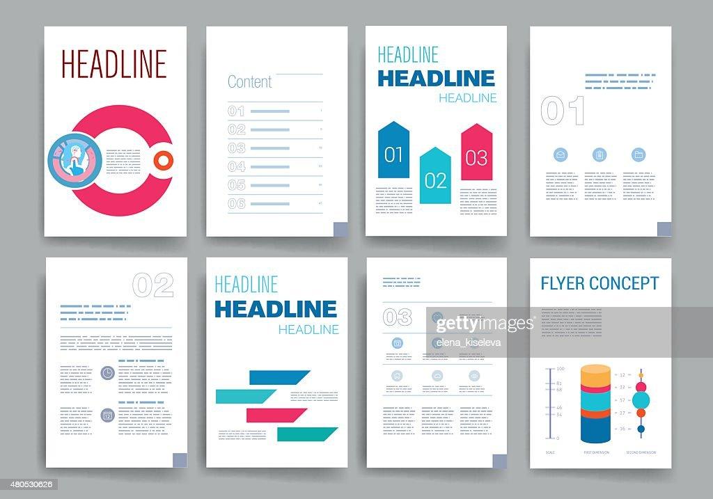 Templates. Design Set of Web, Mail, Brochures. Mobile, Technology, Infographic : Vector Art