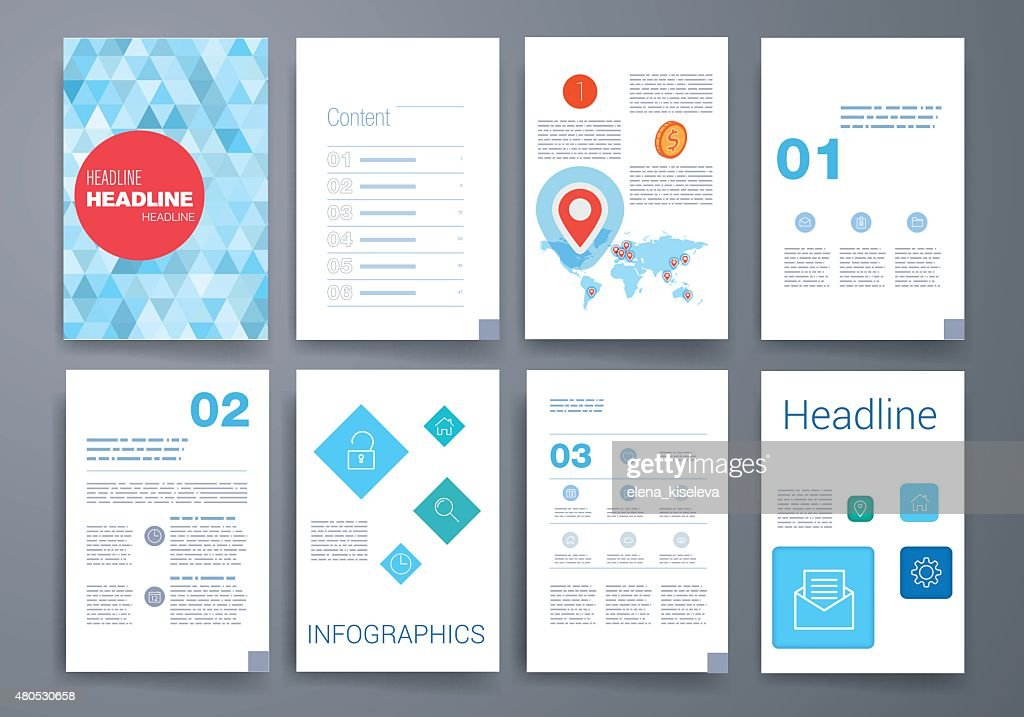 Templates. Design Set of Web, Mail, Brochures. Mobile, Technology, Infographic : Vectorkunst