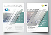 Templates for brochure, magazine, flyer, booklet. Cover design template, easy