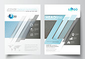 Templates for brochure, magazine, flyer, booklet. Cover template, flat layout