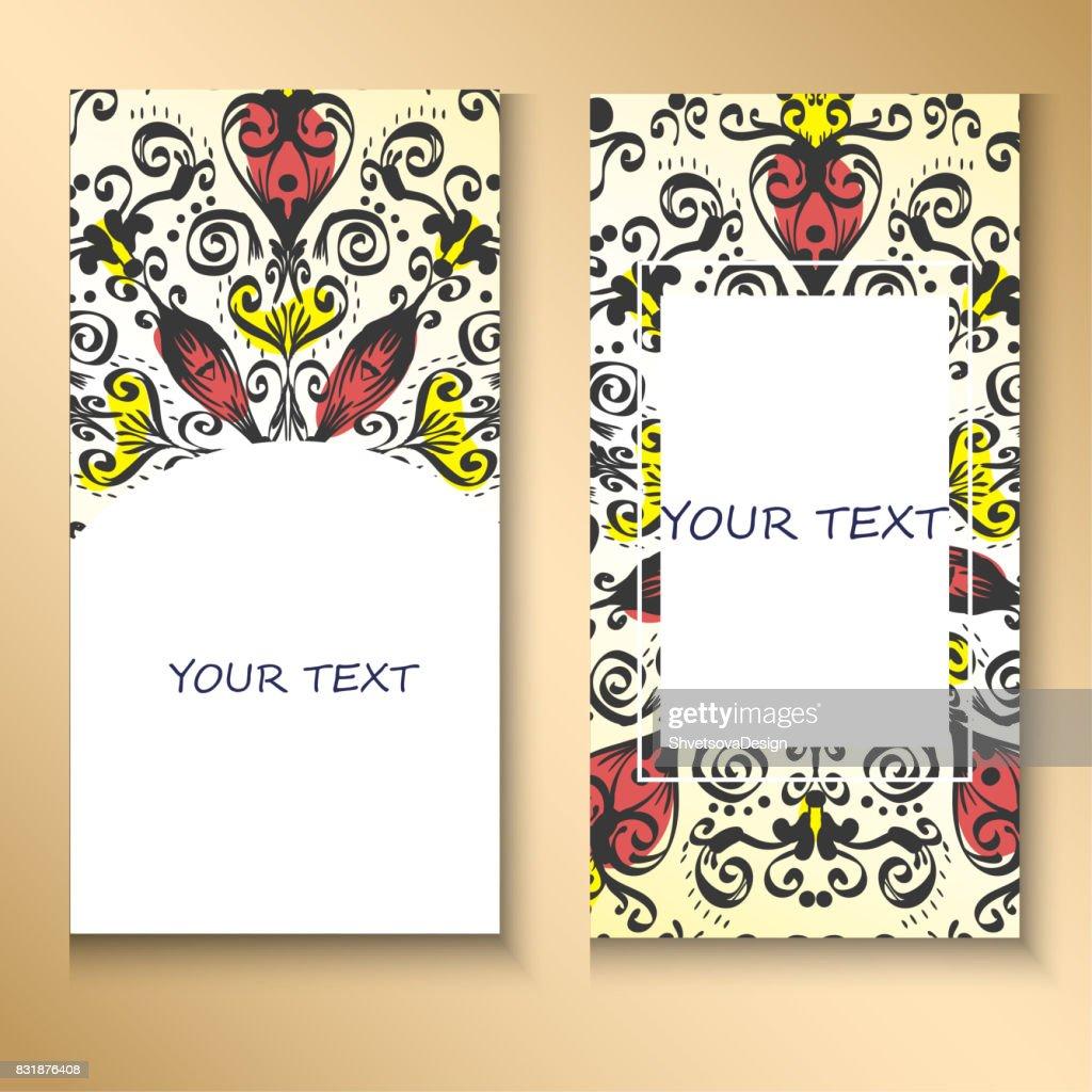 Vorlagenset Visitenkarten Einladungen Und Banner Blumen
