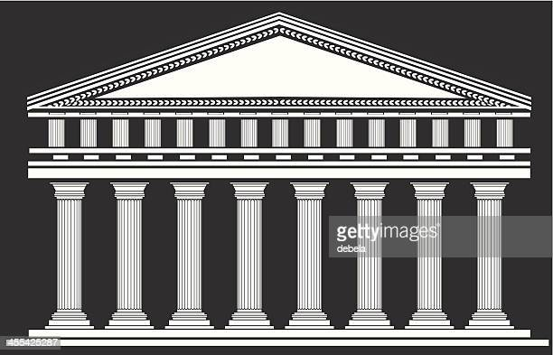 temple - courthouse stock illustrations, clip art, cartoons, & icons