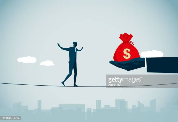 temptation - greed stock illustrations
