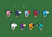Ten different golfer