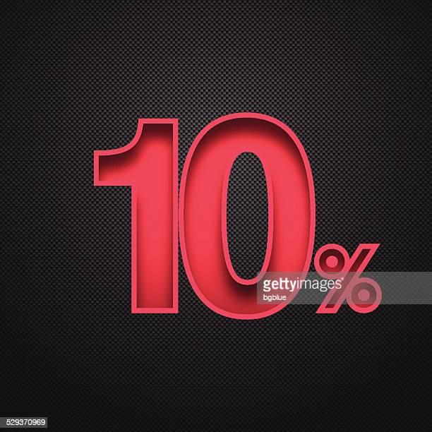 Ten Percent Design (10%). Red number on Carbon Fiber Background