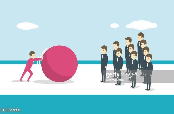 ilustraciones, imágenes clip art, dibujos animados e iconos de stock de ten pin bowling - office politics
