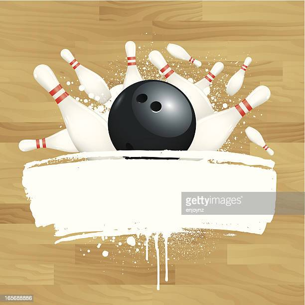 ten pin bowling - bowling stock illustrations, clip art, cartoons, & icons