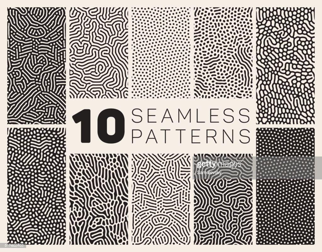 Ten Vector Seamless Organic Patterns