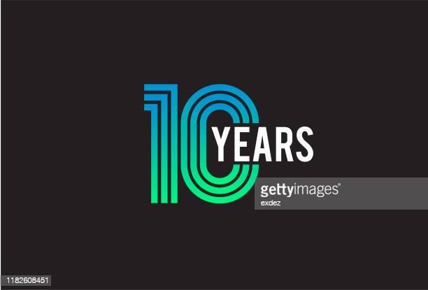 10周年記念デザイン - 10th anniversary点のイラスト素材/クリップアート素材/マンガ素材/アイコン素材