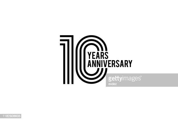 10周年記念デザイン - 10周年点のイラスト素材/クリップアート素材/マンガ素材/アイコン素材