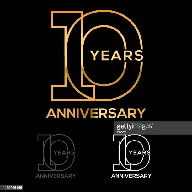 10周年記念 - 10th anniversary点のイラスト素材/クリップアート素材/マンガ素材/アイコン素材